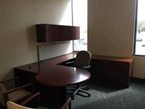 used 7x8 steelcase U Shape office desks