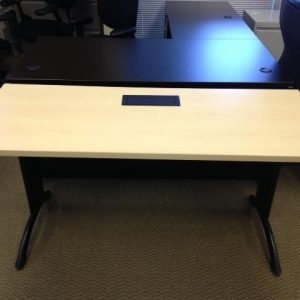 Used Teknion Training Tables With Built In Power / Black Legs