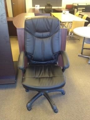 Used Black Leather Chairs
