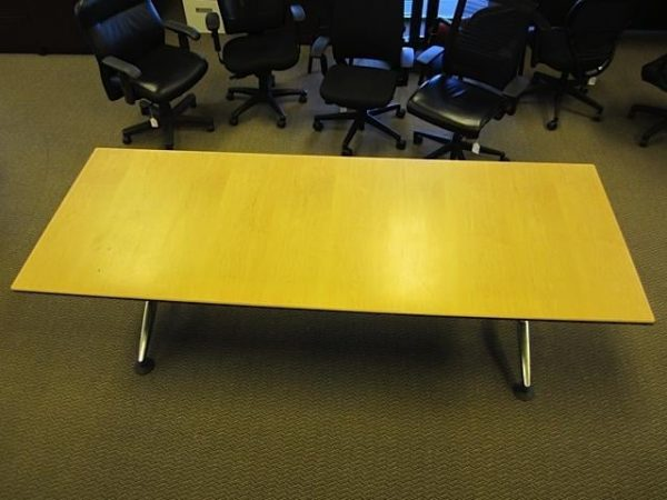 Used Vecta 8 ft Conference Tables Maple Finish