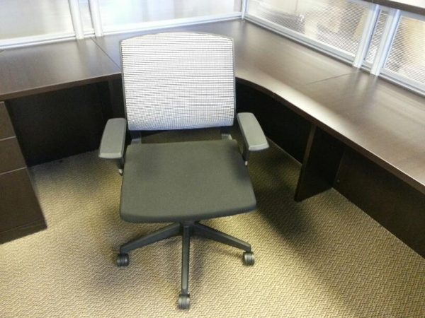 Used Friant Amenity White Mesh Conference Chairs