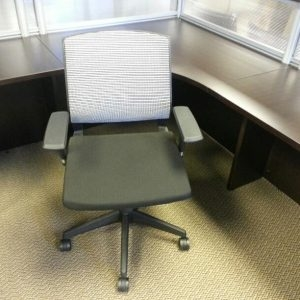 Used White Mesh Conference Chairs