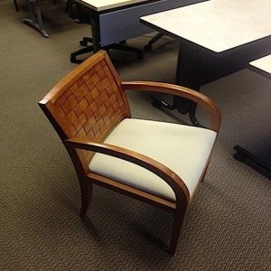 Used Geiger Wood Side Chair W/ Cherry Frame