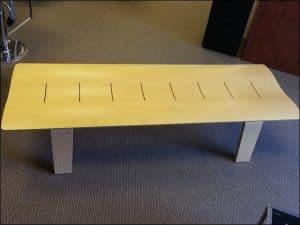 used wood lounge bench