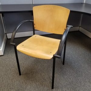 Used Wood Side Chairs Black Frame