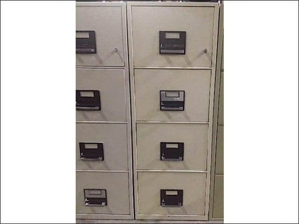 Preowned York Fireproof 4 Drawer Vertical File Cabinets