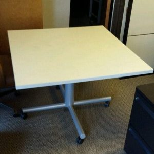 "Used 42""x42"" Adjustable Break Room Tables"