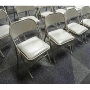 Used Taupe Folding Chairs