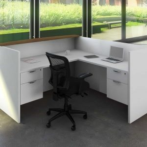 White Reception Desk - Return