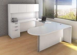 Bullet U-Shape Desk with Front Inner Curve New