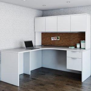 Corner L-Shape Desk Inner Curve