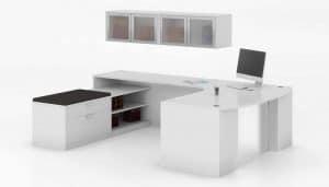 Bow Front Shape Desk Acrylic Modesty Panel New
