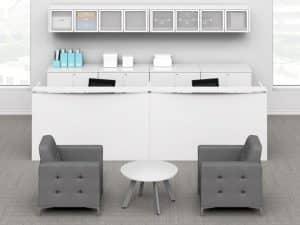 Double Reception Desk Personal Storage Cabinets