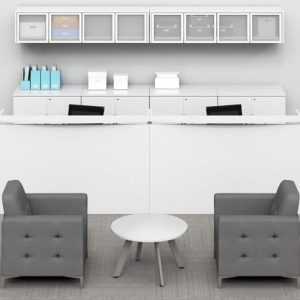 Double Reception Desk Personal Storage Cabinets