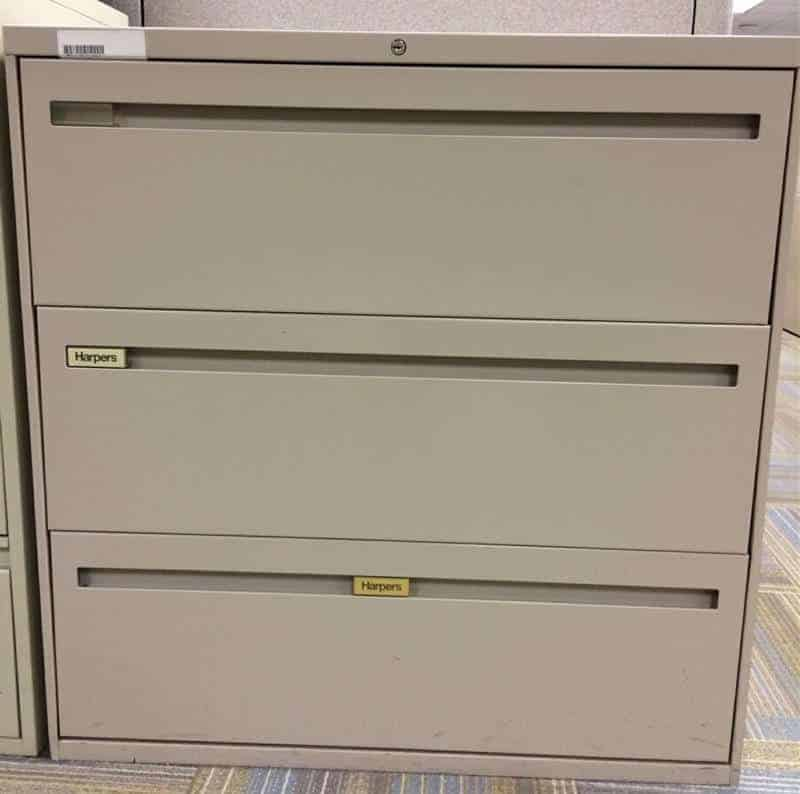 Cabinets 36 Inch Wide Harper 3 Drawer Lateral File