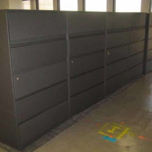 "Used Steelcase 900 Series 42"" wide 5 Drawer Lateral File Cabinets"
