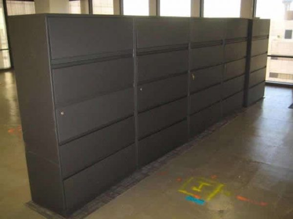 """Used Steelcase 900 Series 42"""" wide 5 Drawer Lateral File Cabinets"""