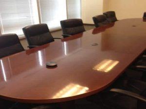 Used 16ft Wood Veneer Conference Table