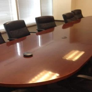 Used 16ft Wood Veneer Conference Table