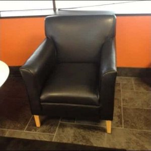 Used Black Leather Lobby Chairs