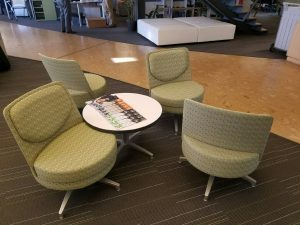 Used Lounge Chairs and a Round Table