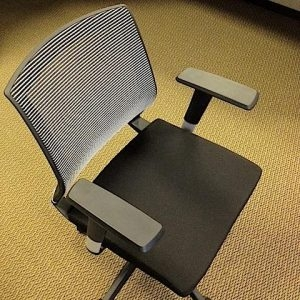 Used White Mesh Chair