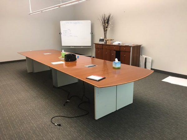 pre-owned Gunlocke conference table