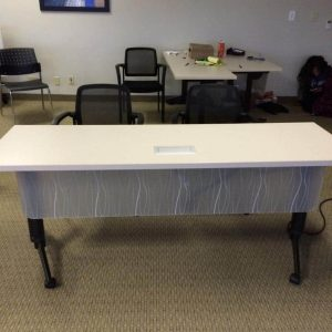 Used National 6ft Flip/Nest Training Tables