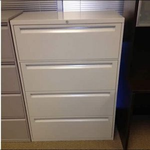 "Used Steelcase 4 Drawer 36"" wide Lateral File Cabinets"
