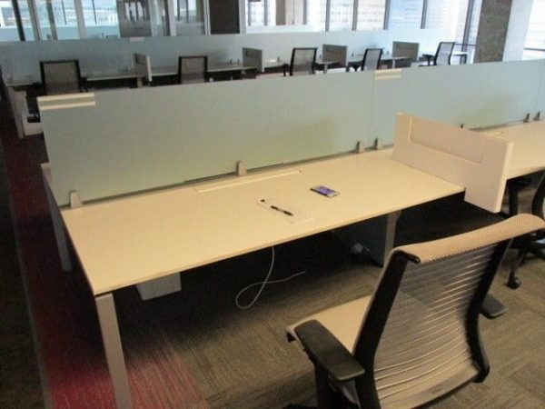 Used Steelcase FrameOne Benching Solution
