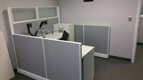 Used AO2 herman miller cubicles 5x4x54 with frosted glass