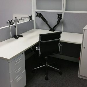 Refurbished AO2 herman miller cubicles 5x4x54 with frosted glass