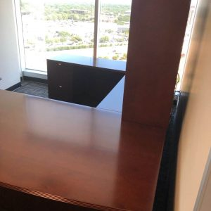 Used u-shape desk with hutch