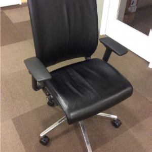 Used Steelcase Think Chair - Black Leather
