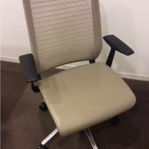 Used Steelcase Think Chair - Tan Leather