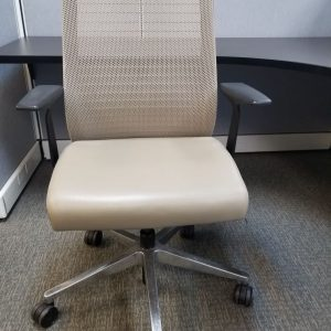 Used Tan Leather Steelcase Think Chairs