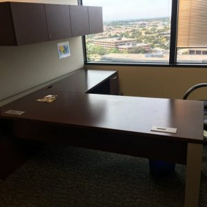 Used Teknion 72x30 Desk 48x24 Return