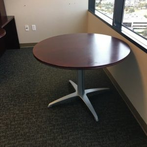 "used Teknion 42"" round tables"
