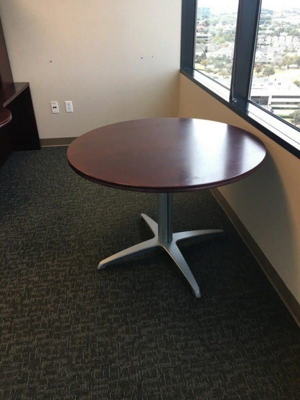 """used Teknion 42"""" round tables"""