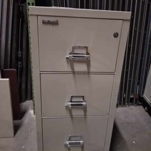 Used Fireproof 3-Drawer Vertical File Cabinet FireKing