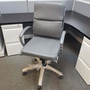Used Mid Back Grey Conference Chair