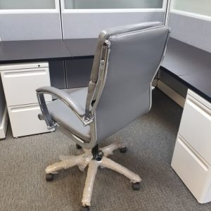 Secondhand Mid Back Grey Conference Chair