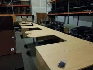 Preowned Paoli U Shape Desks