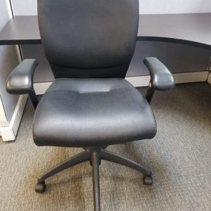 Allseating Black Leather Office Chair Used