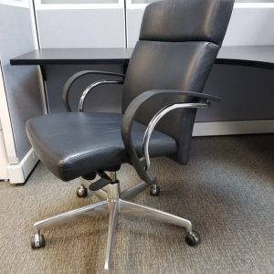 Used Executive Black Leather Office Chair
