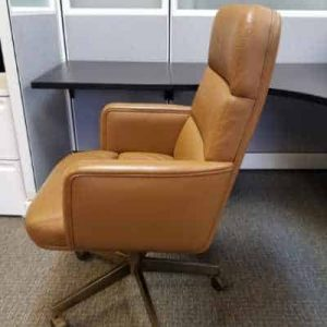 Secondhand Executive High Back Leather Chairs