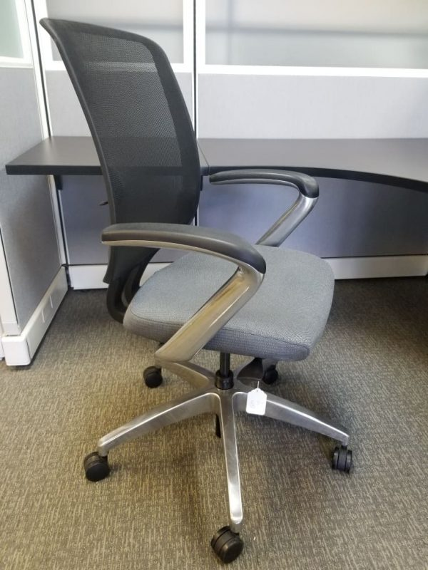 Preowned Allsteel black mesh office chair