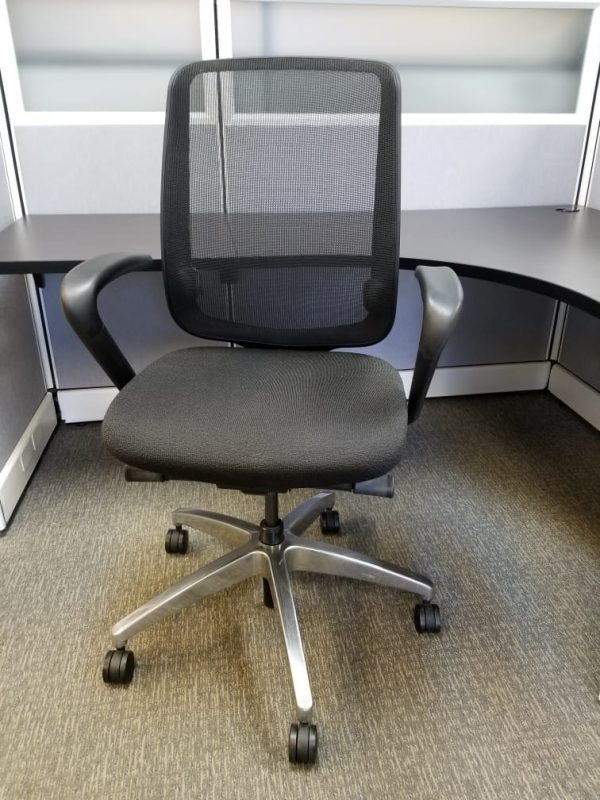 used Allsteel Office Chairs With Black Mesh Back