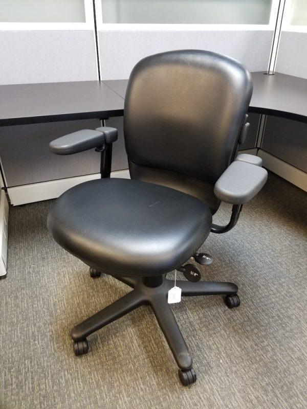 Black vinyl Steelcase Drive chair used