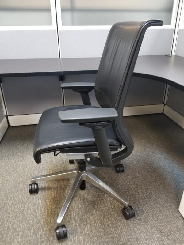 Used Leather Think Chairs by Steelcase
